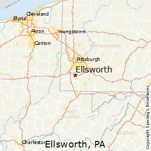 Ellsworth,Pennsylvania Map