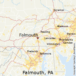 Falmouth,Pennsylvania Map