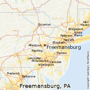 Freemansburg,Pennsylvania Map