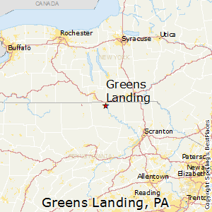 Greens_Landing,Pennsylvania Map