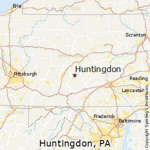 Huntingdon,Pennsylvania Map
