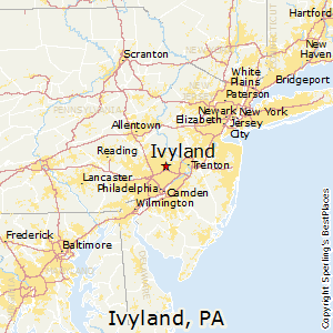 Ivyland,Pennsylvania Map