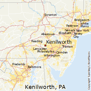 Kenilworth,Pennsylvania Map