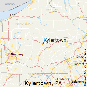 Kylertown,Pennsylvania Map