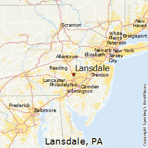 Lansdale,Pennsylvania Map
