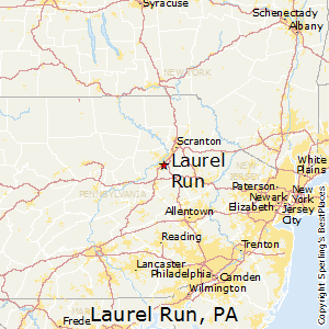 Laurel_Run,Pennsylvania Map