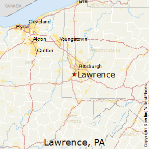 Lawrence,Pennsylvania Map
