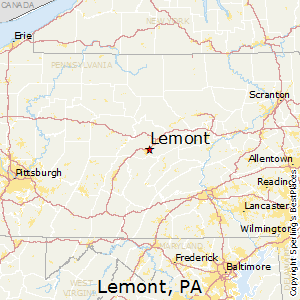 Lemont,Pennsylvania Map