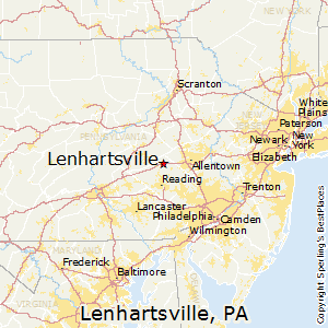 Lenhartsville,Pennsylvania Map