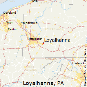 Loyalhanna,Pennsylvania Map
