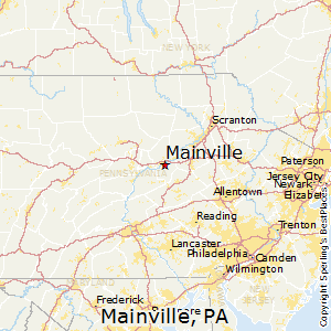 Mainville,Pennsylvania Map