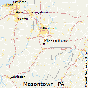 Masontown,Pennsylvania Map