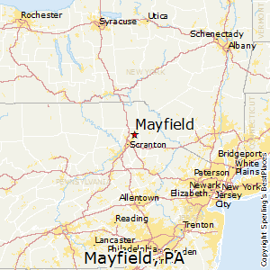 Mayfield,Pennsylvania Map