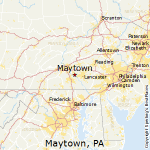 Maytown,Pennsylvania Map