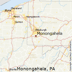Monongahela,Pennsylvania Map