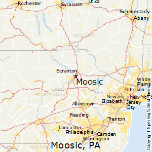 Moosic,Pennsylvania Map