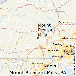 Mount_Pleasant_Mills,Pennsylvania Map