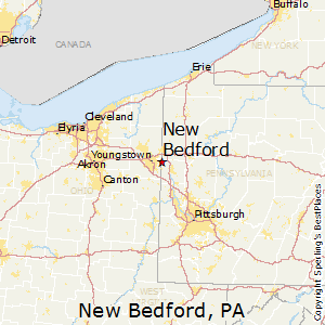 New_Bedford,Pennsylvania Map