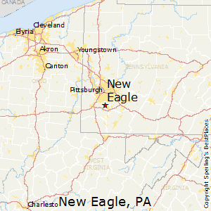 New_Eagle,Pennsylvania Map