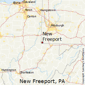 New_Freeport,Pennsylvania Map