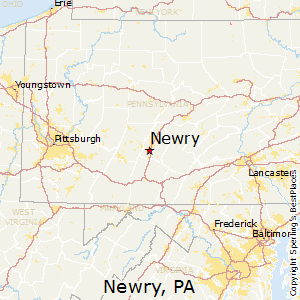 Newry,Pennsylvania Map