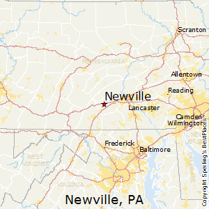 Newville,Pennsylvania Map