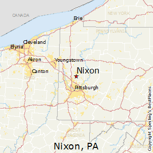 Nixon,Pennsylvania Map