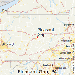 Pleasant_Gap,Pennsylvania Map
