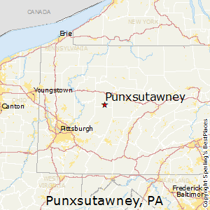 Punxsutawney,Pennsylvania Map