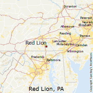 Red_Lion,Pennsylvania Map