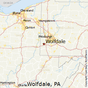 Wolfdale,Pennsylvania Map