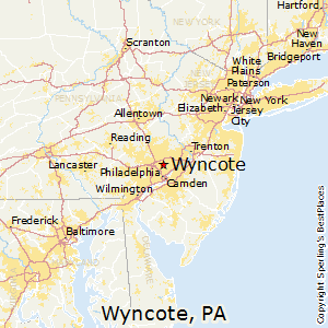 Wyncote,Pennsylvania Map