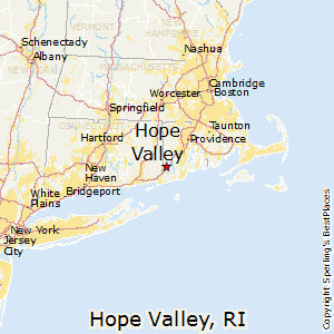 Hope_Valley,Rhode Island Map