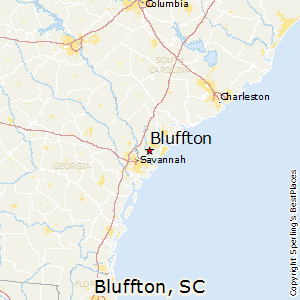 Bluffton,South Carolina Map