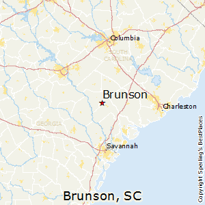 Brunson,South Carolina Map