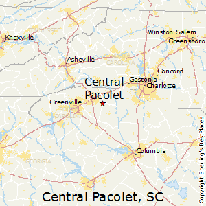 Central_Pacolet,South Carolina Map