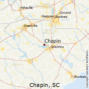 Chapin,South Carolina Map