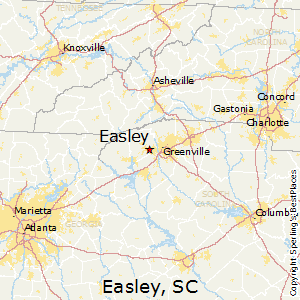 Easley,South Carolina Map