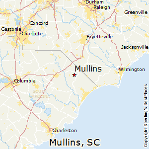 Mullins,South Carolina Map