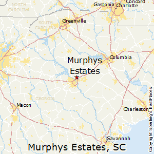Murphys_Estates,South Carolina Map