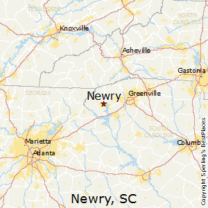 Newry,South Carolina Map