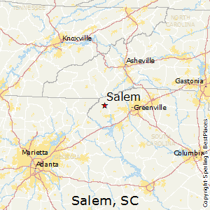 Salem,South Carolina Map
