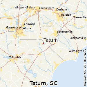Tatum,South Carolina Map