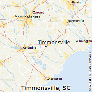 Timmonsville,South Carolina Map