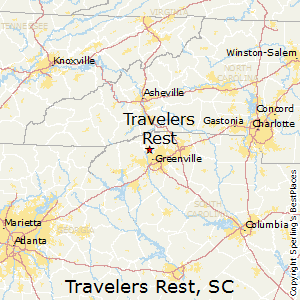 Travelers_Rest,South Carolina Map