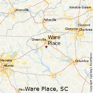 Ware_Place,South Carolina Map