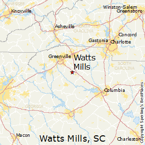 Watts_Mills,South Carolina Map