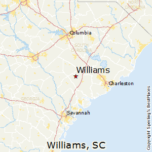 Williams,South Carolina Map