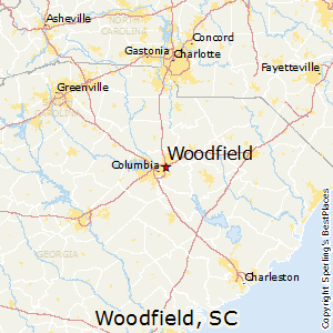 Woodfield,South Carolina Map