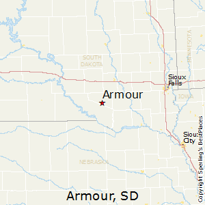 Armour,South Dakota Map